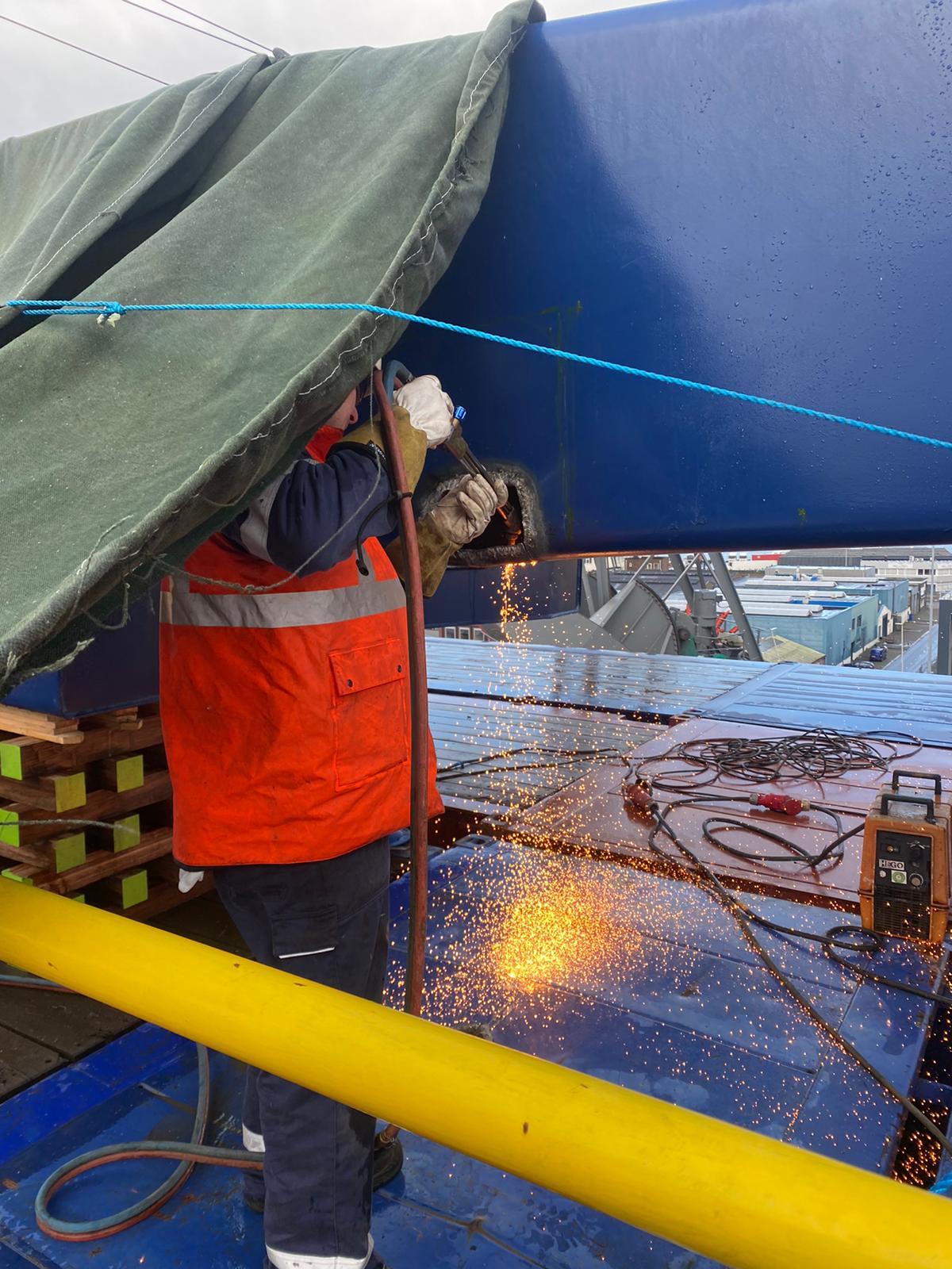 crane boom repair